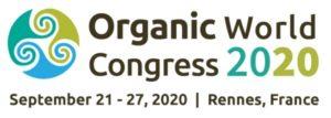 Organic World Congress 2020 a Rennes (Francia) dal 21 al 27 settembre