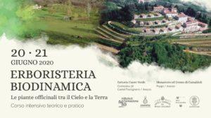 Corso di Erboristeria biodinamica, 20 e 21 giugno 2020, Arezzo
